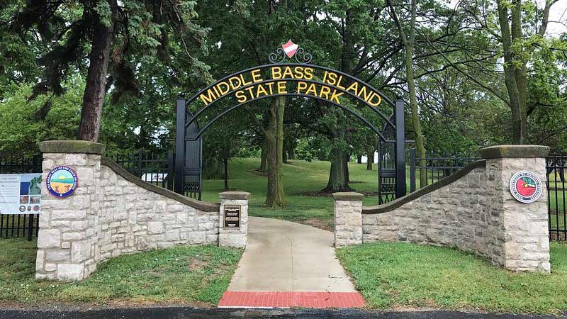 Entrance to Middle Bass Island State Park